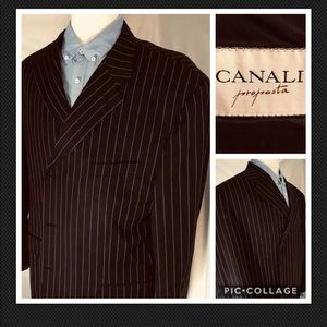 Canali Proposta Mens 50L 3-Button Navy Blazer